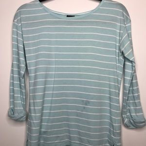 Patagonia Organic Cotton Striped Boxy 3/4 Sleeve